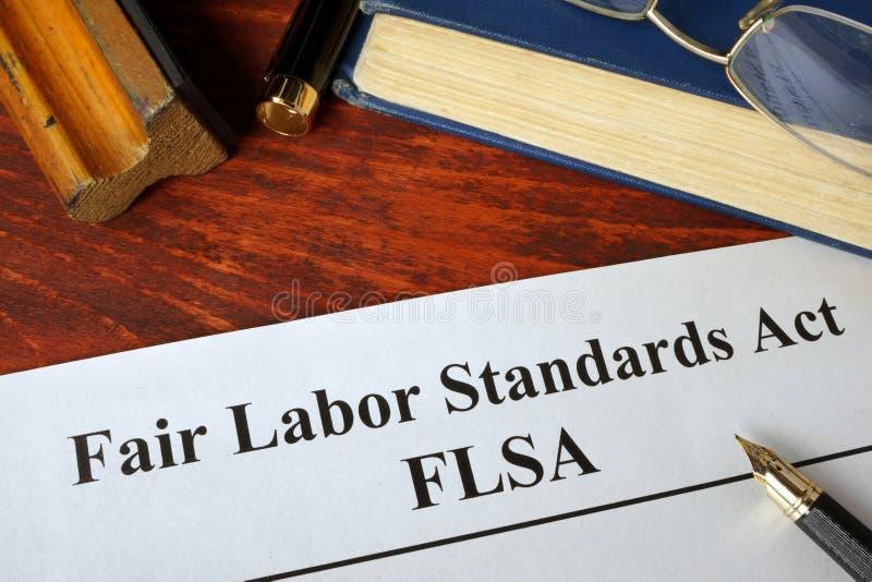 Acto justo de los estándares de trabajo de FLSA foto de archivo libre de regalías