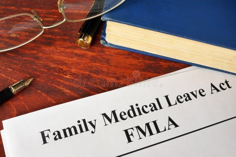 Acto médico de la licencia de la familia de FMLA fotos de archivo libres de regalías