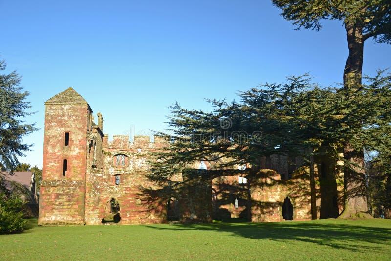 Acton Burnell Castle royaltyfri fotografi