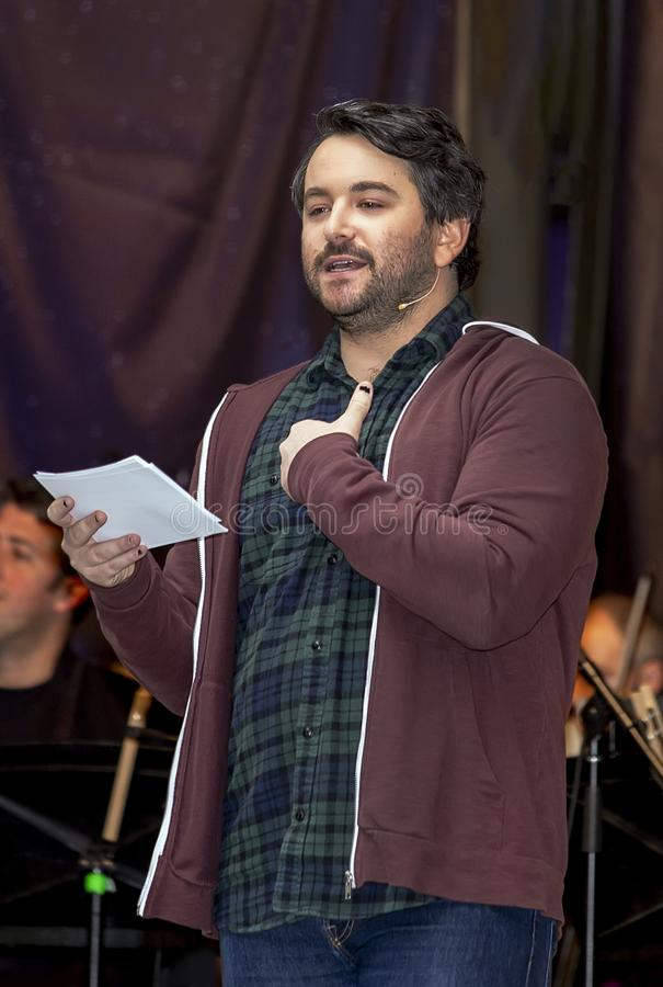 Alex Brightman at 2019  Stars in the Alley royalty free stock image