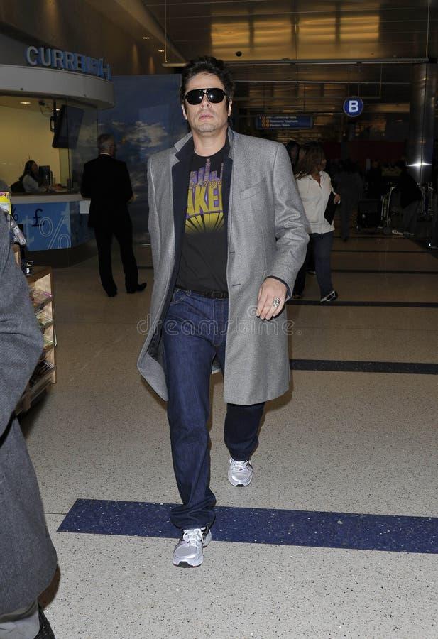 Actor Benicio Del Torro Is Seen At LAX Editorial Photo