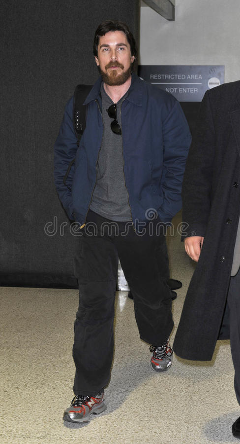 Download Actor Christian Bale With Beard At LAX Editorial Stock Photo - Image: 20664783