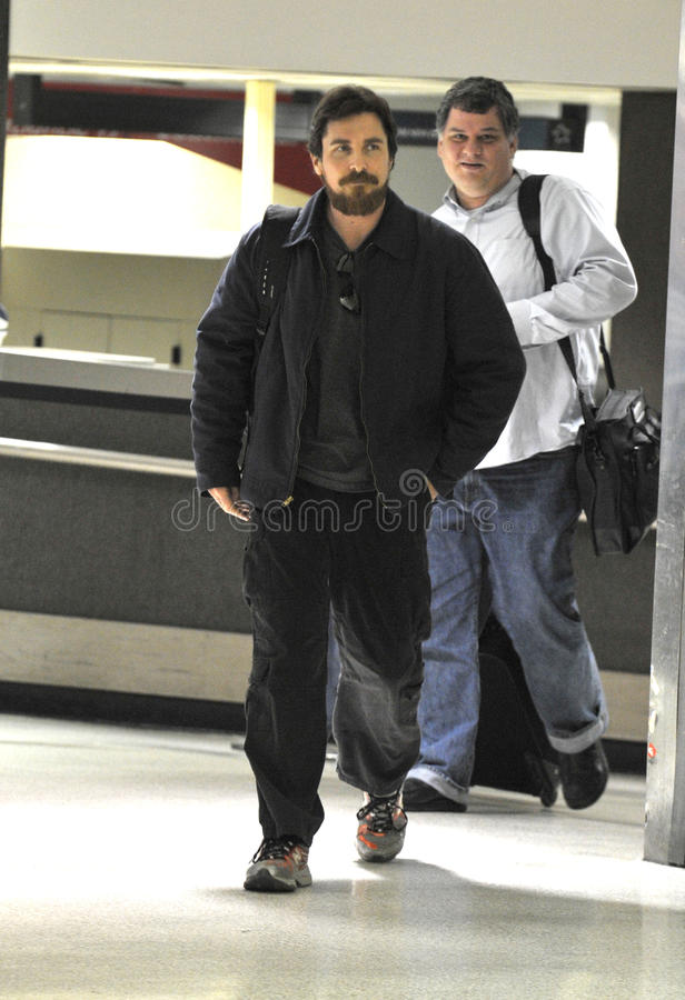 Download Actor Christian Bale With Beard At LAX Airport Editorial Stock Image - Image: 20663534