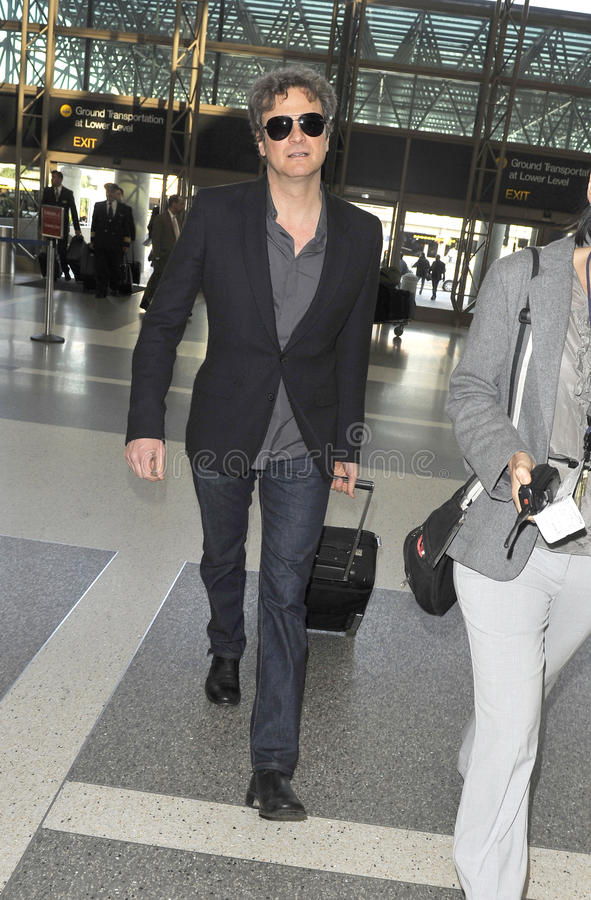 Actor Colin Firth is seen at LAX