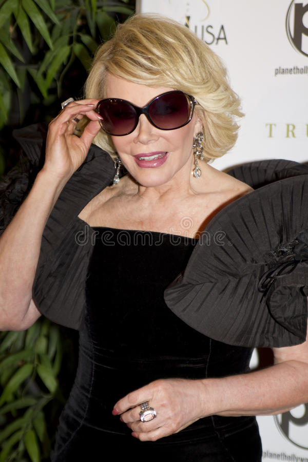 Actor and comedienne Joan Rivers Hospitalized royalty free stock photography