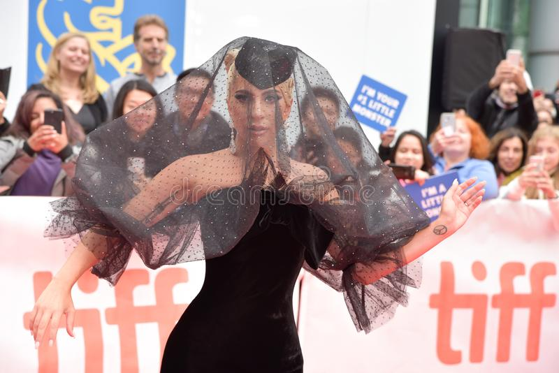 Lady Gaga at premiere of A Star Is Born at Toronto International Film Festival 2018 royalty free stock photo