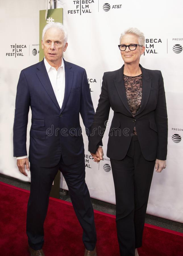 Christopher Guest and Jamie Lee Curtis  at 35th Anniversary of THIS IS SPINAL TAP at 2019 Tribeca Film Festival royalty free stock image
