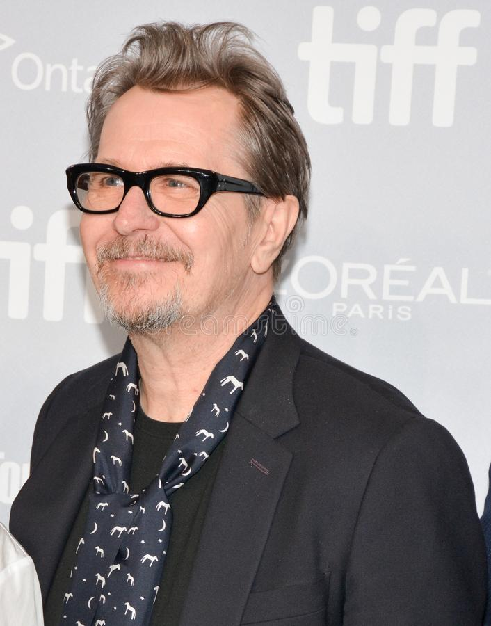 Gary Oldman at press conference for `Darkest Hour` press conference with actors and crew toronto international film festival royalty free stock image