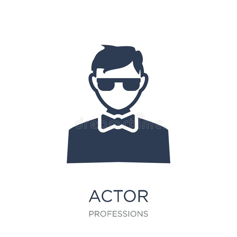 Actor icon. Trendy flat vector Actor icon on white background fr vector illustration