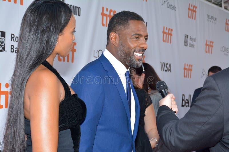 Actor Idris Elba at toronto international film festival stock photography