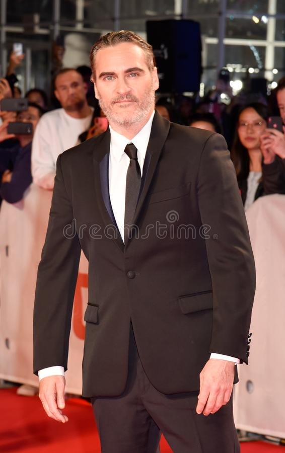 Joaquin Phoenix at premiere of Joker at Toronto International Film Festival 2019 royalty free stock images