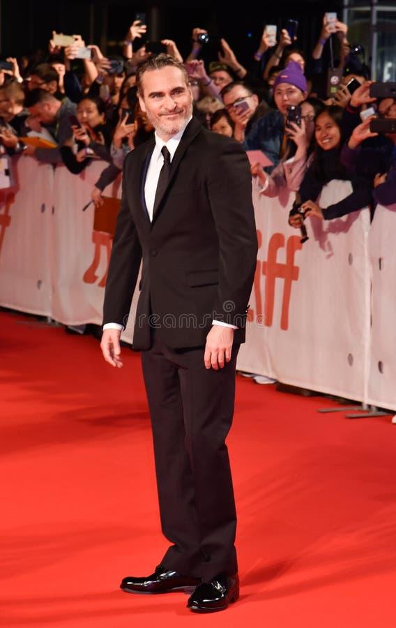 Joaquin Phoenix at premiere of Joker at Toronto International Film Festival 2019 stock photo