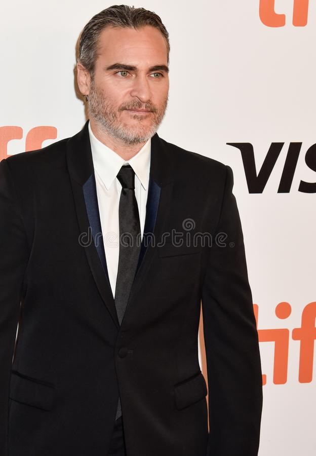 Joaquin Phoenix at movie premiere of Joker at Toronto International Film Festival 2019 stock images