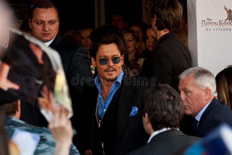 Actor Johnny Depp In Moscow Editorial Photo