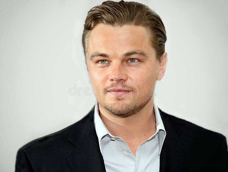 Leonardo DiCaprio. Actor Leonardo DiCaprio arrives for the premiere of Gardener of Eden` at the 6th Annual Tribeca Film Festival in Lower Manhattan on April 26 stock photography