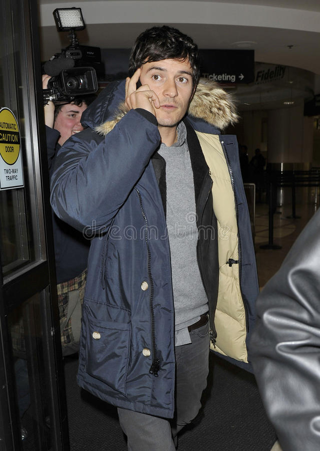 Actor Orlando Bloom at LAX royalty free stock photo