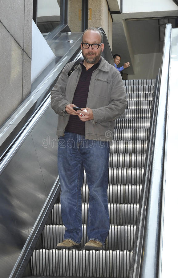 Download Actor Paul Giamatti At LAX Airport Editorial Photography - Image: 22952792