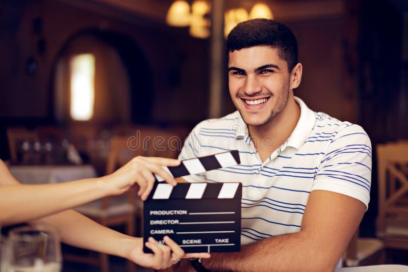 Actor profesional Ready para un lanzamiento foto de archivo libre de regalías