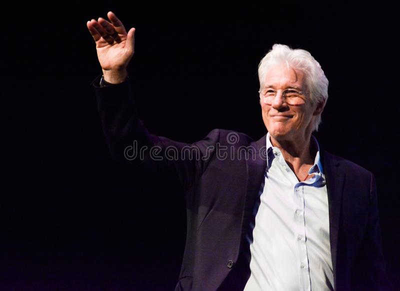 Actor Richard Gere at `Three Christs` press conference at TIFF17. Actor Richard Gear at `Three Christs` film premiere at Roy Thomson Hall press conference stock photography
