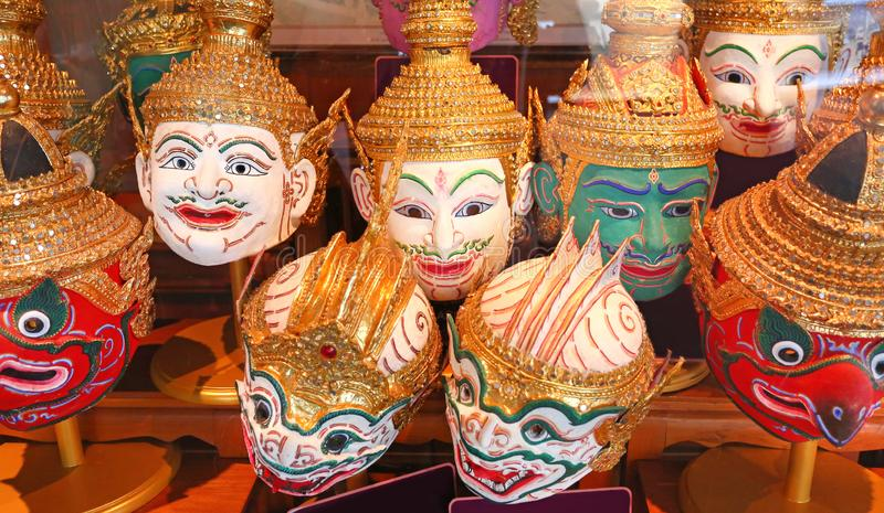 Actor`s mask, Pantomime in Thailand stock photo