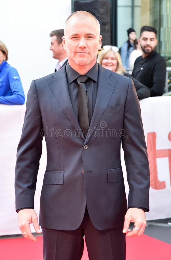 Actor Sean Carrigan at premiere of Ford V. Ferrari at TIFF film festival. Talent soap opera actor on young and the restless royalty free stock photography