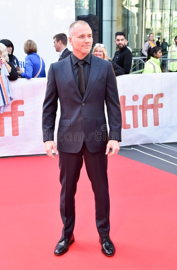 Actor Sean Carrigan at premiere of Ford V. Ferrari at TIFF film festival. Talent soap opera actor on young and the restless stock photography