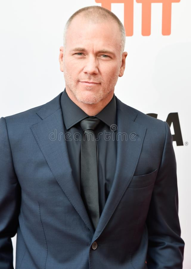 Actor Sean Carrigan at premiere of Ford V. Ferrari at TIFF film festival. Talent soap opera actor on young and the restless royalty free stock photo