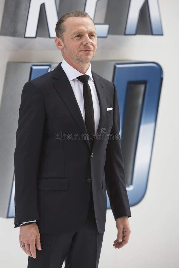 Actor Simon Pegg imagenes de archivo