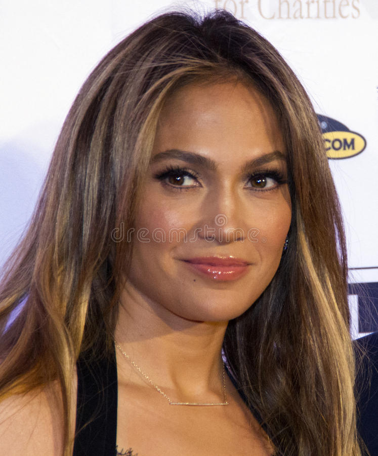 Celebrity Actor Singer Jennifer Lopez. Actor singer Jennifer Lopez at Celebrity Fight Night honoring featured guest, Muhammad Ali, and benefiting the Muhammad royalty free stock photography