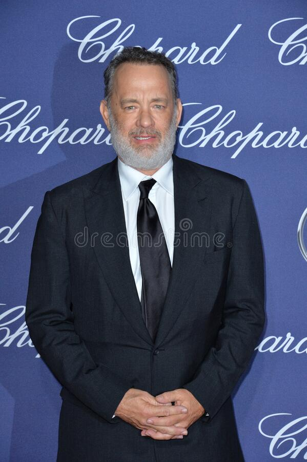Tom Hanks. Actor Tom Hanks at the 2017 Palm Springs Film Festival Awards Gala. January 2, 2017 royalty free stock image