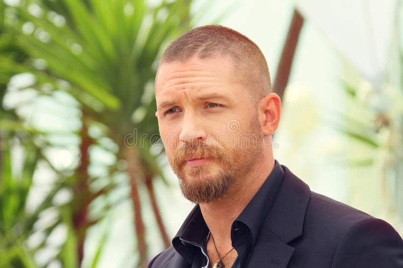 Actor Tom Hardy. Attends the 'Mad Max : Fury Road' Photocall during the 68th annual Cannes Film Festival on May 14, 2015 in Cannes, France stock image