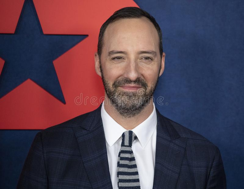 Tony Hale at the Final Season Premiere of Veep. Actor Tony Hale arrives for the red carpet premiere for the final season of the critically acclaimed political royalty free stock image