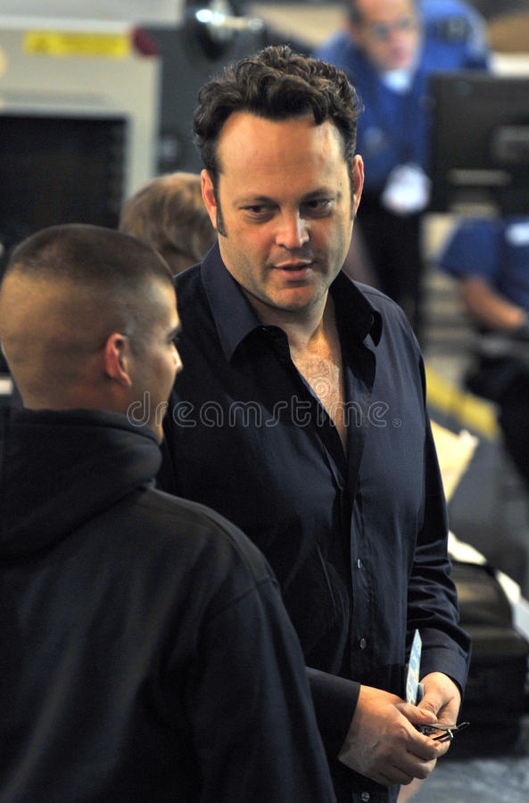 Download Actor Vince Vaughn Is Seen At LAX Airport Editorial Photography - Image: 19239492