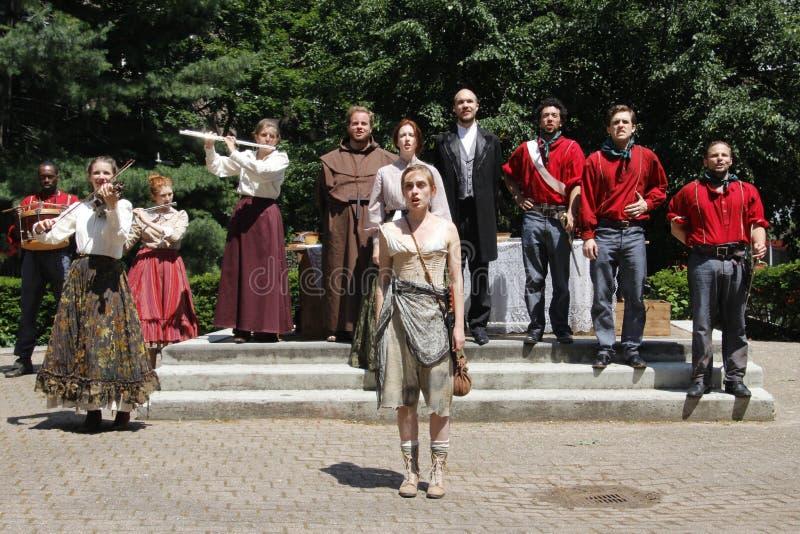 Actoren die Shakespeare spelen royalty-vrije stock foto's