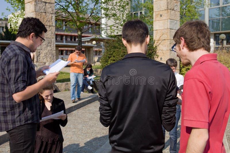 Actoren repetitie in UMinho royalty-vrije stock fotografie