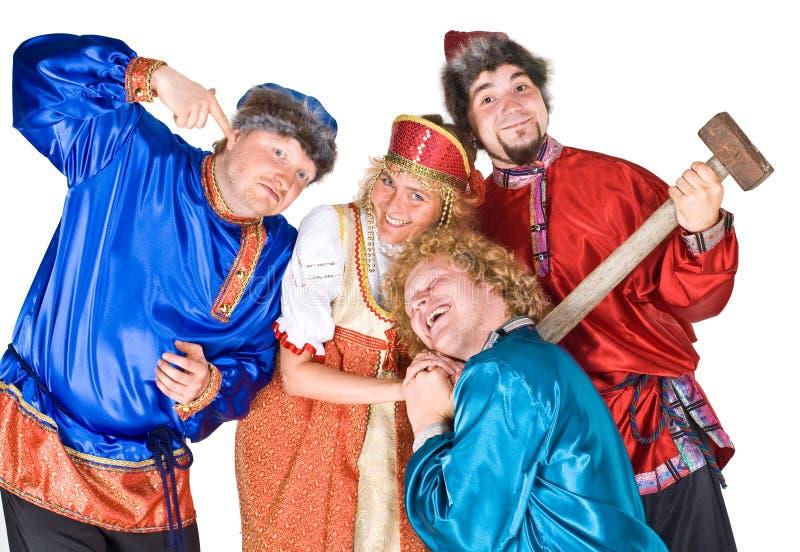 Actoren in Russische folklore royalty-vrije stock afbeeldingen