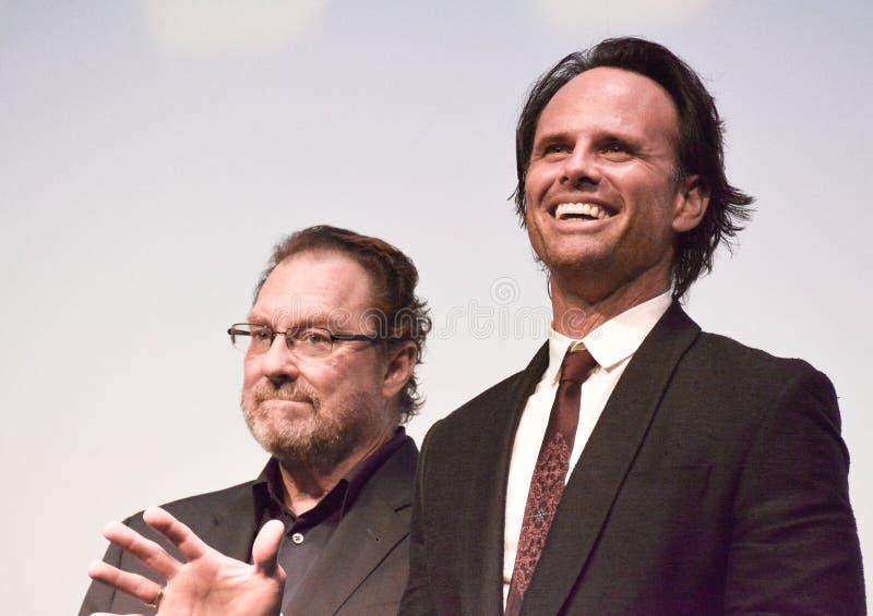 Actoren Actoren Stephan Root en Walton Goggins bij internationaal de filmfestival van Toronto stock fotografie