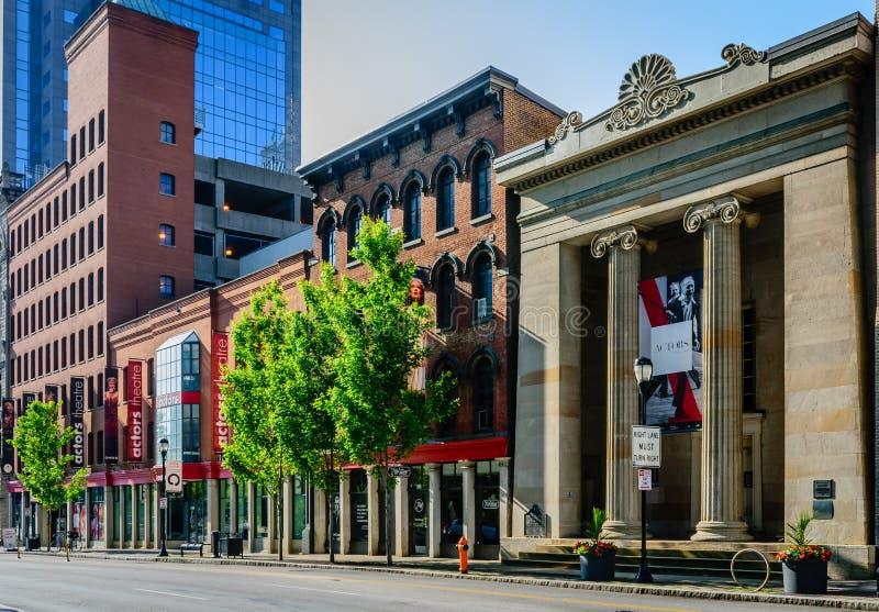 Actoren Theater van Louisville stock foto