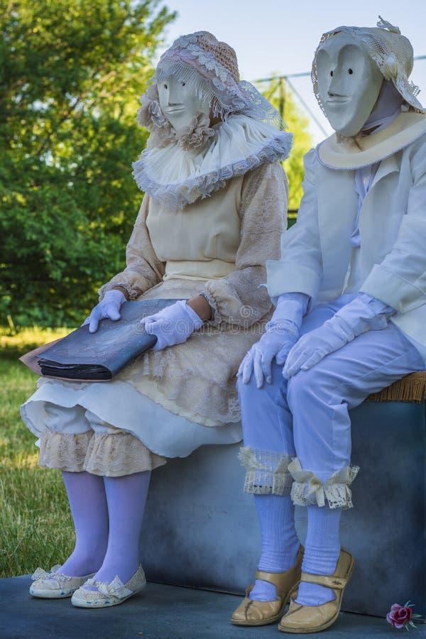 Actores en trajes de período imagen de archivo libre de regalías