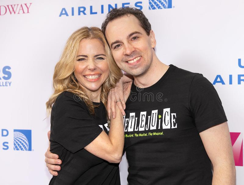 Kerry Butler & Rob McClure at 2019 Stars in the Alley stock image