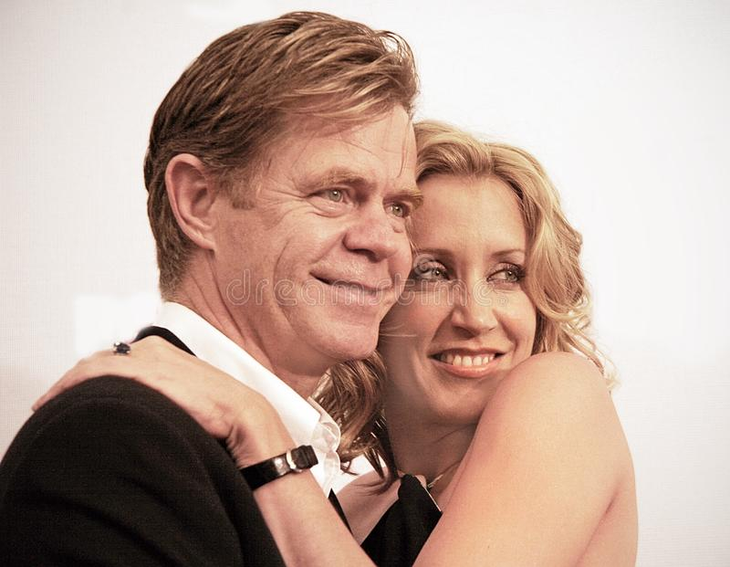 William H. Macy and Felicity Huffman at 2005 Tribeca Film Festival. Actors and married couple, William H. Macy and Felicity Huffman arrive at the 4th annual stock photography