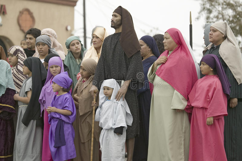 Actors during the Passion play