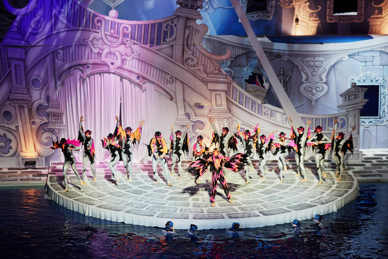 Download Actors Perform On Stage In Swimming Pool Editorial Photo - Image: 33336331