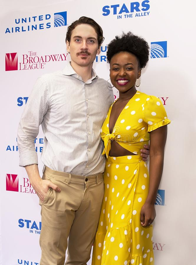 Zach Hess & Aisha Jackson at 2019 Stars in the Alley. Actors Zach Hess & Aisha Jackson from 'Waitress' at Stars in the Alley, a free outdoor afternoon stock photo