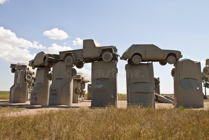 Actraction van carhenge, Nebraska de V.S. stock afbeelding