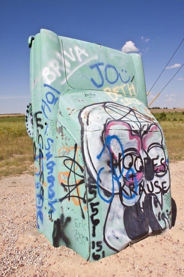 Actraction van carhenge, Nebraska de V.S. stock fotografie
