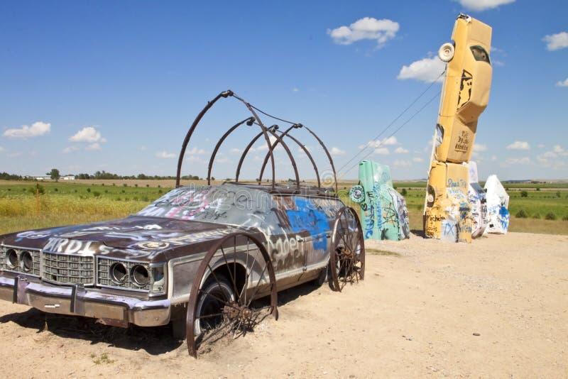 Actraction van carhenge, Nebraska de V.S. stock foto's