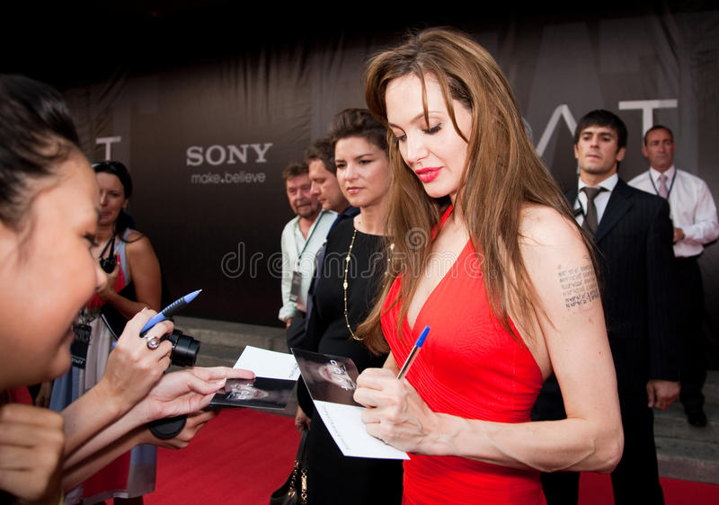 Actress Angelina Jolie royalty free stock images