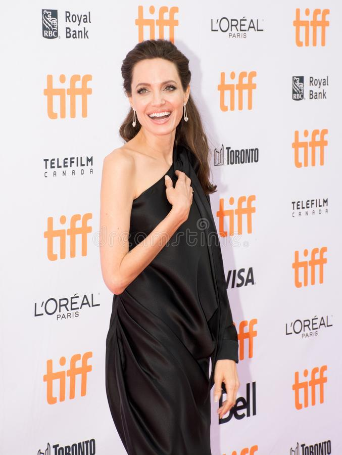 Angelina Jolie at World Premiere Of Netflix`s Film`s `First They Killed My Father` During The Toronto International Film Festival. Actress Angelina Jolie at the stock photos