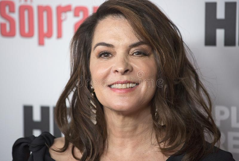 Annabella Sciorra. Actress Annabella Sciorra arrives for The Sopranos  20th Anniversary Red Carpet and Panel Discussion held at the SVA Theater in New York royalty free stock images